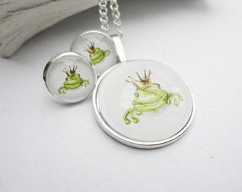 Set jewelry Frog