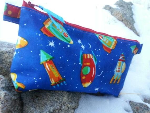 Rocketship  Pencil Case, Boys' School Accessory Bag