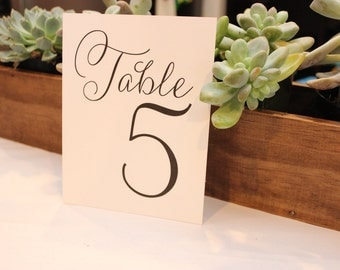 Table Number Cards for Wedding // Party Cards // Wedding Signs // Printed Cards