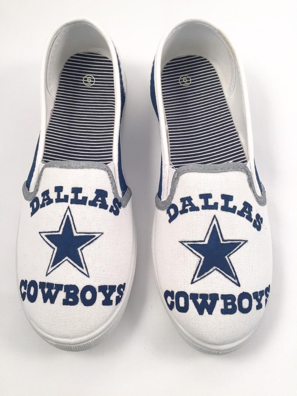 painted dallas cowboys shoes