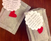 Warm Heart Rice Filled Hand and Mitten Heaters Warmers