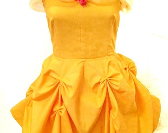 Belle inspired dress. Disney princess cosplay: Beauty and the Beast