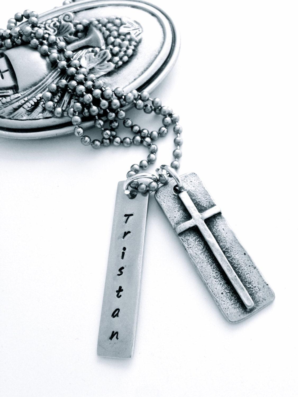 boys cross necklace communion necklace boys communion boys
