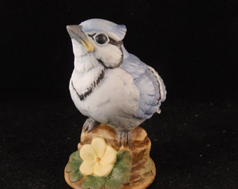 "Vintage bird figurine ""Blue Jay"" by Andrea"
