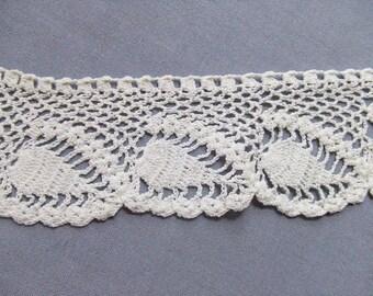 Crochet Edging Pineapple Swirl Handmade 1 Yard