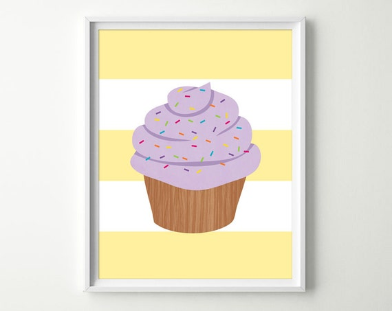 Cupcake nursery decor kids cupcake decor cupcake wall art for Cupcake wall art