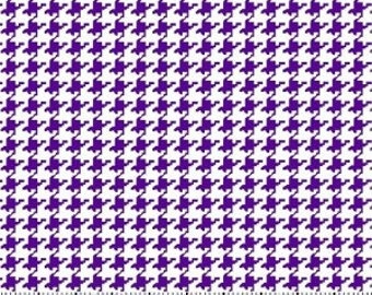Purple Houndstooth Fabric --- 100 Percent Cotton --- Fabric By The Yard
