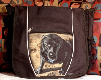 Messenger Bag - Custom painted of your pet
