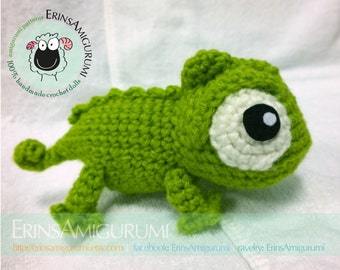 PASCAL CHAMELEON PLUSH - Made to order Amigurumi Doll