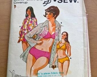 KwikSew 479 vintage bathing suit pattern
