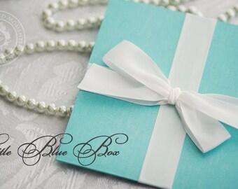 Little Blue Box Wedding Invitation - Custom Sample