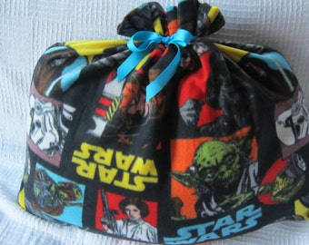 Star Wars Fleece Giant Santa Sack Fabric Christmas or Birthday Gift Bag