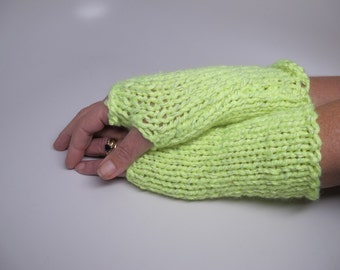 wristers, wrist warmers, fingerless gloves, reflective, yellow, running wristers, after dark wristers