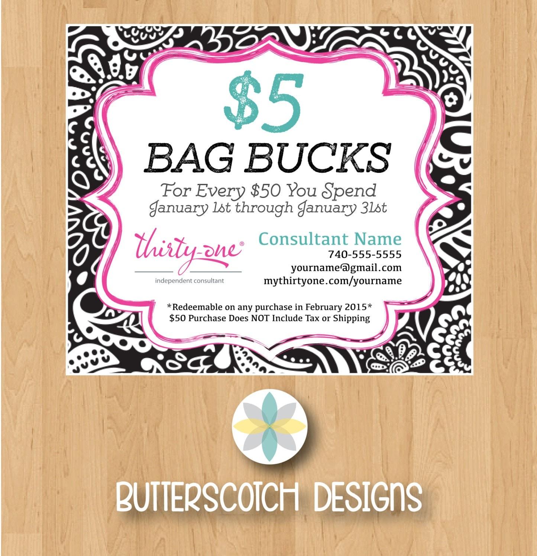 Thirty-One Customer Bag Bucks Black Playful Parade Mini