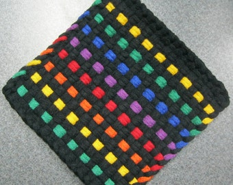 Rainbow of Lights Woven Potholder