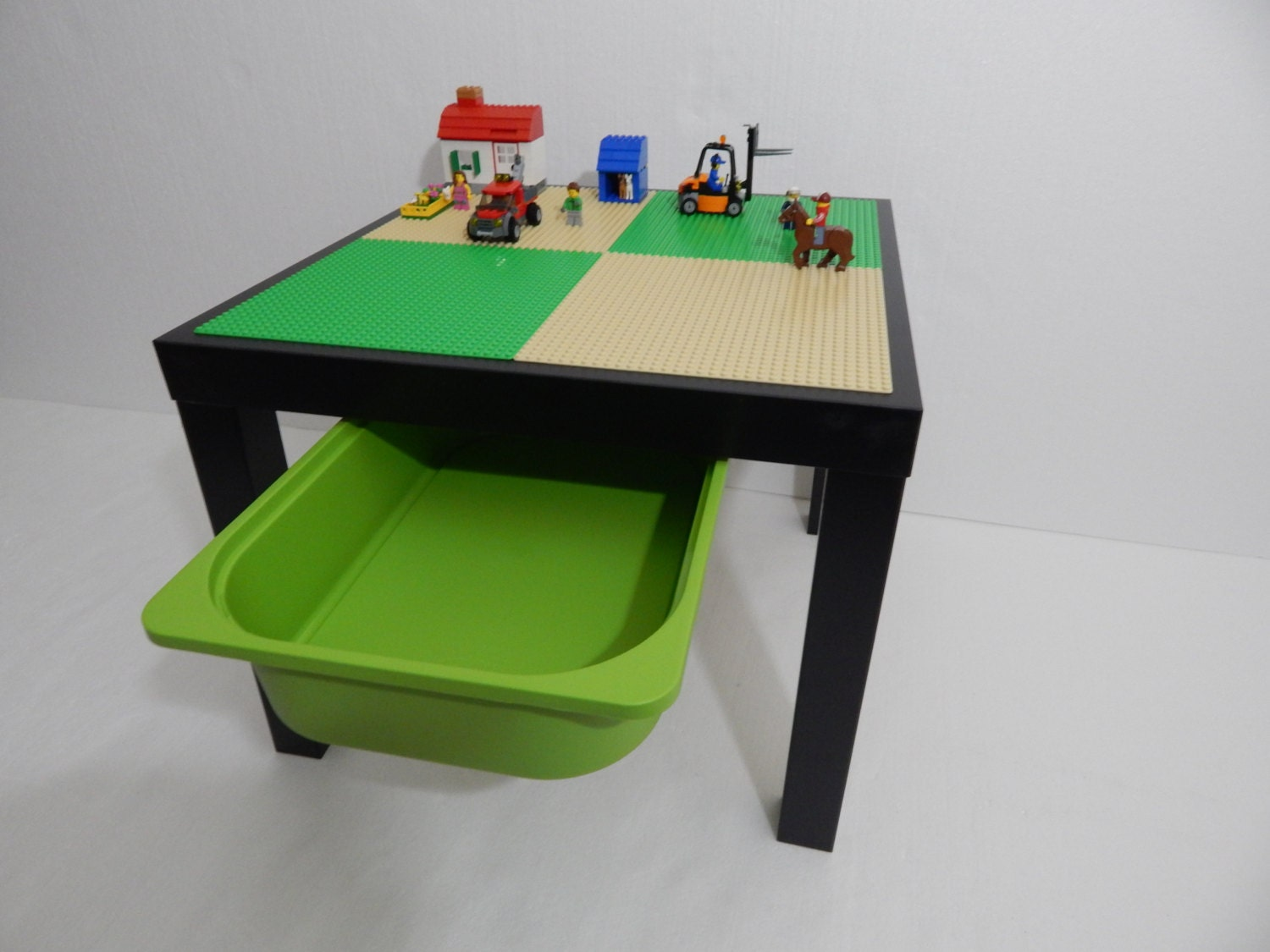 Kids lego table with storage large 20x20 tan and for Table design lego