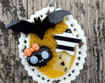 Gothic Lolita Pendant. Creepy Cute Pendant. Kawaii/Decoden/ Fairy Kei/ Lolita Kei Pendant.