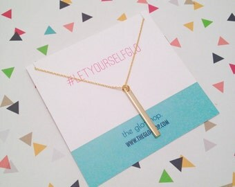 The Gold Bar Charm Necklace