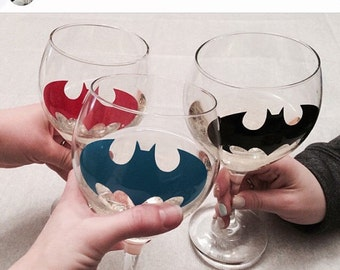 Batman Wine Glasses, SET OF 4