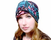 Soft Knit Bandeanie - Versatile Convertible Multi-Function Slouchy Beanie Headband Headwrap for Yoga ~ Runner ~ Hippie ~ Boho ~ Sports Wrap