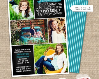 Chalkboard Sections Graduation Announcement