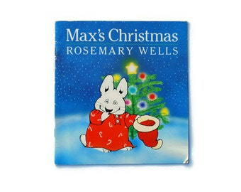 Max's Christmas, Rosemary Wells, 1991, blue, white, vintage book