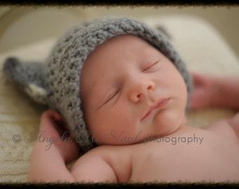Newborn hat pattern/baby hat pattern/crochet baby hat/crochet newborn hat/baby cat hat/kitty cat hat pattern/crochet cat hat/kitty cat ears