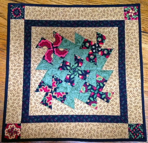 Rug Kaleidoscope Runner: Pinwheel Kaleidoscope Table Topper Table Runner Wallhanging