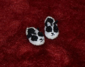 Miniature Slippers for 1/12 dollhouse Panda Slippers