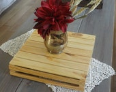 Centerpiece Wooden Crate- Multi uses