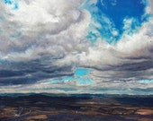 "Wind Swept Skies, Oil on 24x36"" canvas, by Sean Bodley - Original Oil Landscape Painting - Mount Nittany Art - Pennsylvania Realist Painting"