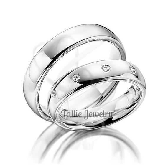 platinum his and hers wedding ringswomens wedding