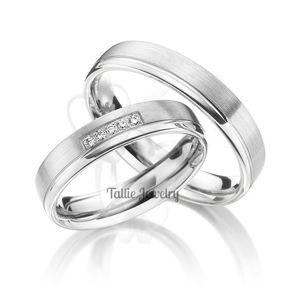 platinum wedding ringshis and hers matching