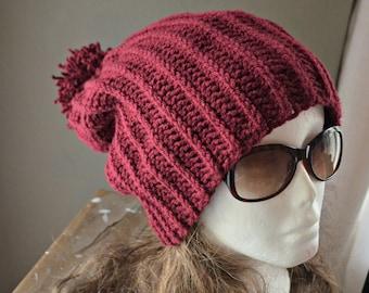 CROCHET PATTERN-Blaine Slouch Beanie Crochet hat pattern, beanie pattern, teen pattern, mens hat pattern beanie