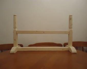 table top mini  Osberg tablet weave loom . wooden. design viking period. re-enactment weaving