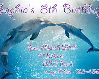 Dolphin Tale Printable Birthday Invitation