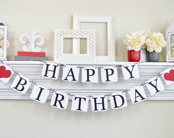 Happy Birthday Banner, Birthday Sign, Adult Birthday Banner, Birthday Banner to reuse, Happy Birthday Sign