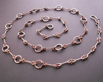 ... copper chain, copper jewelry, copper gift for her, handmade chain