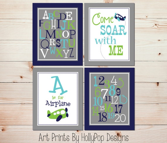 Baby Room Decor Nursery Decor Nursery Boy Kids Art By: Baby Boy Nursery Wall Art Airplane Nursery Decor Nursery Art