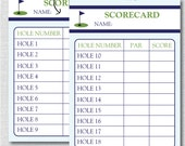 Golf Party Score Card - Golf Party Game - Editable Golf Game Card - INSTANT DOWNLOAD