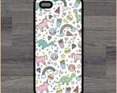 Fun Girl Hipster Print 4/4S 5/5C 6/6+ Case and Samsung Galaxy S3/S4/S5