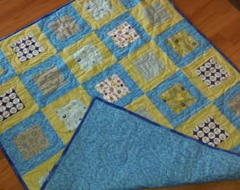 SALE Flannel Baby Quilt