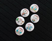 Sheriff Callie…6- Flat Back Buttons, 6-1 inch pins, 6-magnets, 6-shoelace backs…6 for 3.00