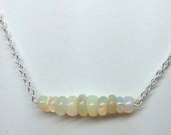 3-6mm Opal Bead Necklace18 inch