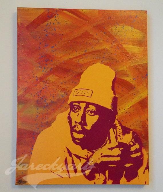 tyler the creator painting real handmade stencil by JareckyArt