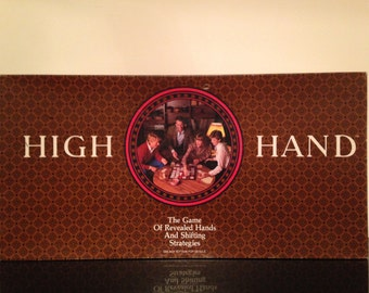 High Hand Board Game 1984 by Milton Bradley