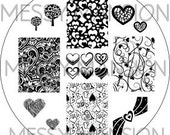 Nail Art Stamping Image Plate MM31 - Valentines Day themed
