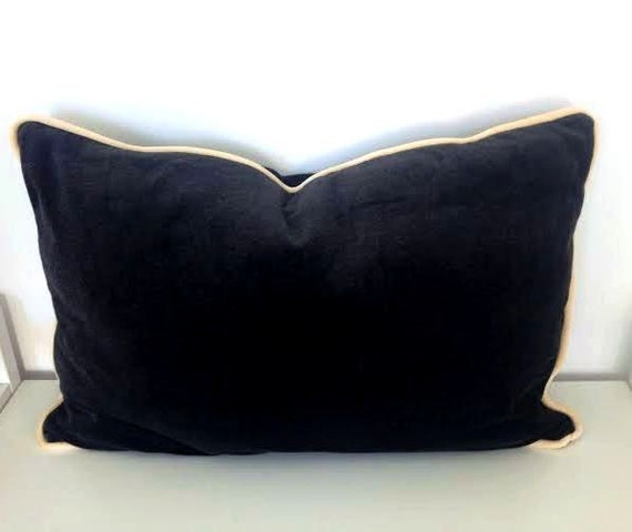 Items similar to Charcoal Grey Velvet Pillow Cover 24