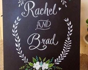 Welcome Wedding Chalkboard.