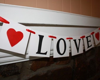 LOVE Wedding Banner - Engagement Party Decoration - Photo Prop